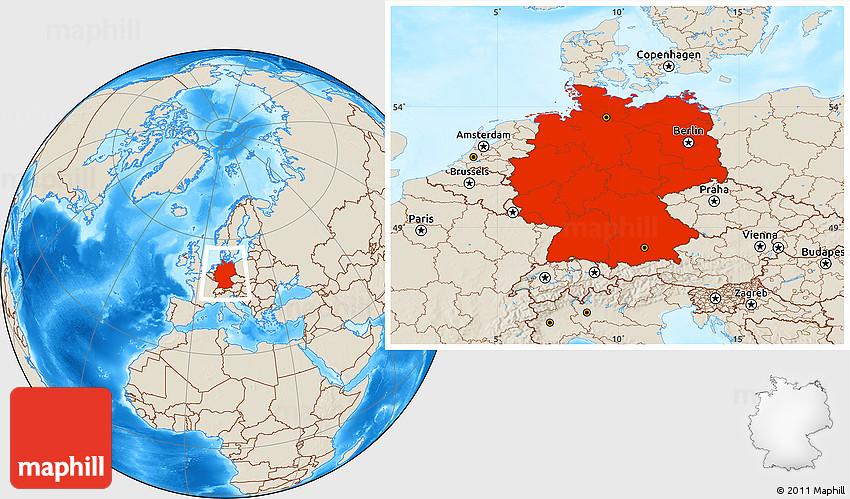 Shaded relief location map of germany 2d gumiabroncs Choice Image