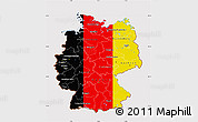 Flag Map of Germany, flag rotated