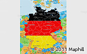 Flag Map of Germany, political outside