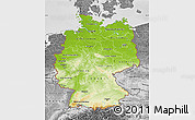 Physical Map of Germany, desaturated