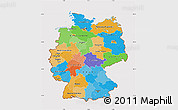 Political Map of Germany, cropped outside
