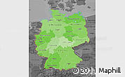 Political Shades Map of Germany, darken, desaturated