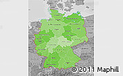 Political Shades Map of Germany, desaturated