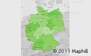Political Shades Map of Germany, lighten, desaturated