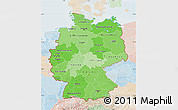 Political Shades Map of Germany, lighten