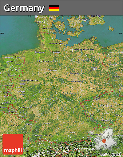 Free Satellite Map of Germany