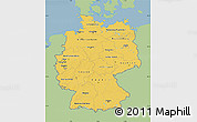 Savanna Style Map of Germany, single color outside