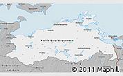 Gray 3D Map of Mecklenburg-Vorpommern