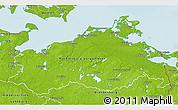 Physical 3D Map of Mecklenburg-Vorpommern