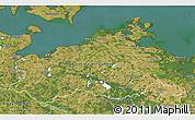 Satellite 3D Map of Mecklenburg-Vorpommern