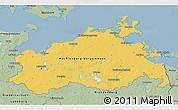 Savanna Style 3D Map of Mecklenburg-Vorpommern