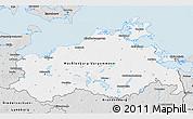 Silver Style 3D Map of Mecklenburg-Vorpommern