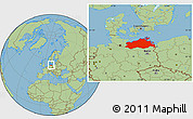 Savanna Style Location Map of Mecklenburg-Vorpommern