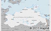 Gray Map of Mecklenburg-Vorpommern