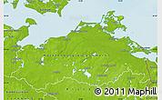 Physical Map of Mecklenburg-Vorpommern