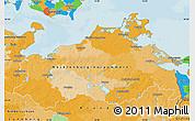 Political Map of Mecklenburg-Vorpommern