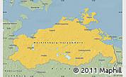 Savanna Style Map of Mecklenburg-Vorpommern