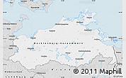 Silver Style Map of Mecklenburg-Vorpommern