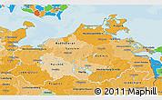 Political Shades 3D Map of Mecklenburg-Vorpommern