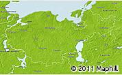 Physical 3D Map of Nordwestmecklenburg