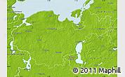 Physical Map of Nordwestmecklenburg