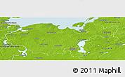 Physical Panoramic Map of Nordwestmecklenburg