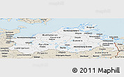 Classic Style Panoramic Map of Mecklenburg-Vorpommern