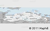 Gray Panoramic Map of Mecklenburg-Vorpommern