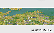 Satellite Panoramic Map of Mecklenburg-Vorpommern