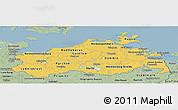 Savanna Style Panoramic Map of Mecklenburg-Vorpommern