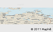 Shaded Relief Panoramic Map of Mecklenburg-Vorpommern