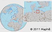 Gray Location Map of Wismar