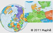Political Location Map of Wismar