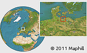 Satellite Location Map of Wismar