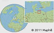 Savanna Style Location Map of Wismar