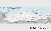 Gray Panoramic Map of Mecklenburg-Vorpommern