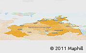 Political Panoramic Map of Mecklenburg-Vorpommern, lighten
