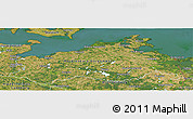 Satellite Panoramic Map of Mecklenburg-Vorpommern