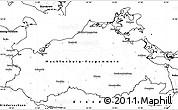 Blank Simple Map of Mecklenburg-Vorpommern