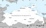 Gray Simple Map of Mecklenburg-Vorpommern