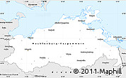Silver Style Simple Map of Mecklenburg-Vorpommern