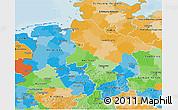Political 3D Map of Niedersachsen