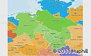 Political Shades 3D Map of Niedersachsen