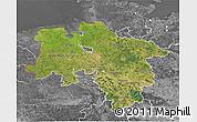 Satellite 3D Map of Niedersachsen, desaturated