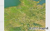 Satellite 3D Map of Niedersachsen