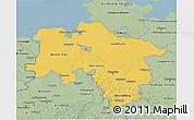 Savanna Style 3D Map of Niedersachsen