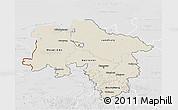 Shaded Relief 3D Map of Niedersachsen, lighten, desaturated