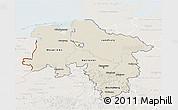 Shaded Relief 3D Map of Niedersachsen, lighten