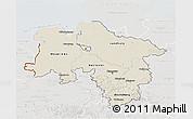 Shaded Relief 3D Map of Niedersachsen, lighten, semi-desaturated