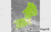Physical 3D Map of Braunschweig, desaturated